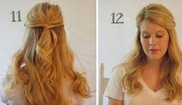 half up half down hairstyles easy step by step twisted half up half down hairstyle ideas step by step