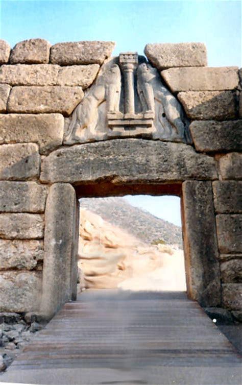 la porta dei leoni porta dei leoni e tesoro di atreo o tomba di agamennone