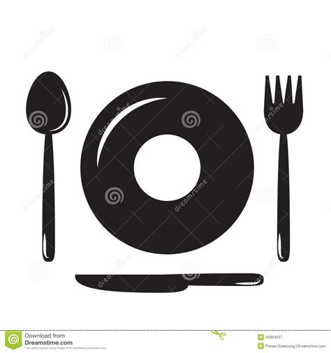 Restaurant Kitchen Knives by Plates Spoons Forks And Knives Food Icon Food Symbol