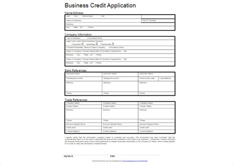Credit Application Form For Business Template Free Credit Application Form Template Free Word Pdf Creative Template