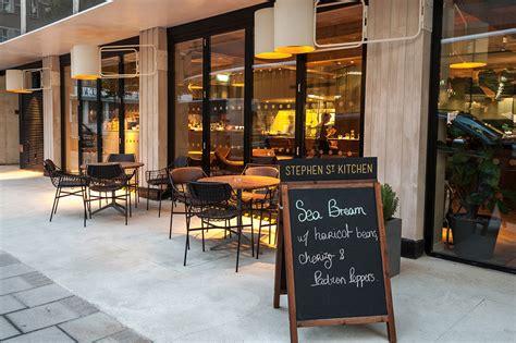 Brass Dining Table Base stephen street kitchen restaurant at british film institute