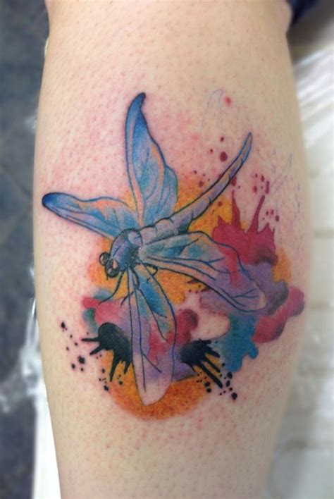 watercolor tattoo dragon dragonfly images designs
