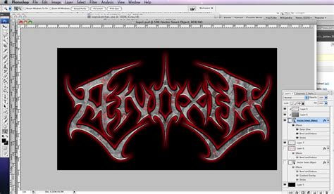 metal logo design photoshop tutorial death metal logo go media 183 creativity at work