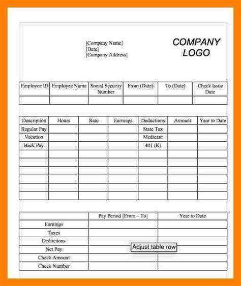 1099 pay stub template free 5 1099 pay stub template sles of paystubs