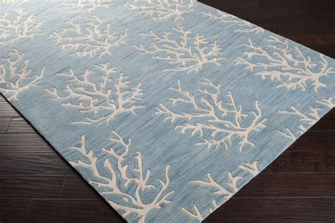 coral reef rugs powder blue coral reef escape rug ii by surya rosenberryrooms