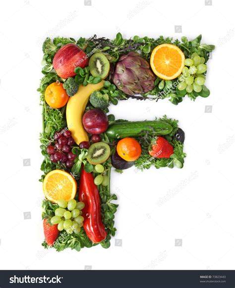 f fruits and vegetables royalty free fruit and vegetable alphabet letter f