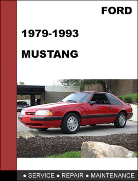 free service manuals online 1986 ford mustang spare parts catalogs ford mustang 1979 1993 factory workshop service repair manual d
