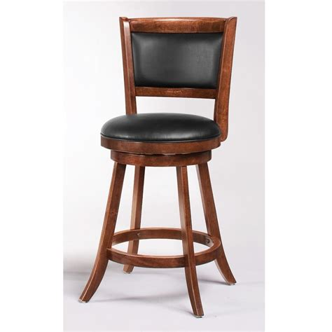 Padded Bar Chairs Swivel Bar Stools 24 Quot H Bar Stool Set Of 2 Padded Seat And