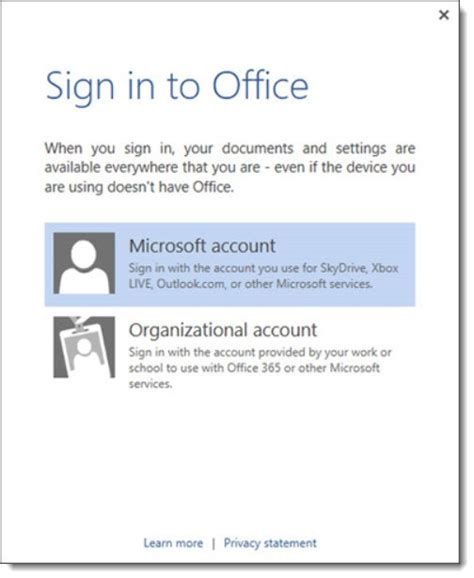 the difference between a microsoft account and an office
