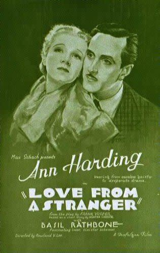 film love from a stranger basil rathbone master of the stage and screen love from
