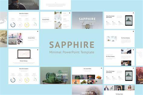 Saphhire Minimal Powerpoint Presentation Templates Creative Market Minimalist Powerpoint Template Free