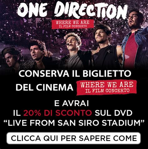 film dokumenter one direction where we are prevendita biglietti one direction where we are il