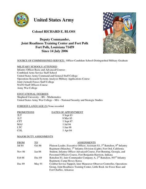 army board bio template 19 images of army bio template free gieday