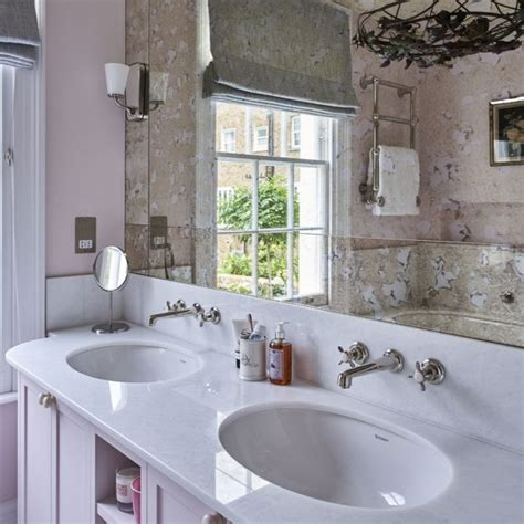 Pink Bathroom Mirror Traditional Bathroom Pictures Ideal Home