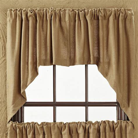 burlap swag curtains burlap soft cotton tier window treatment