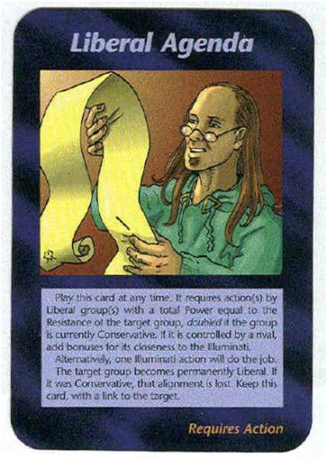 illuminati news illuminati liberal agenda new world order trading card