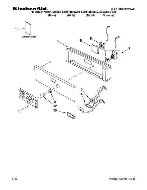 kitchenaid microwave parts diagram kitchenaid built in microwave oven parts model