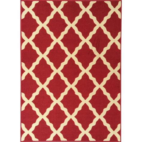 red accent rugs ottomanson ottohome collection contemporary moroccan