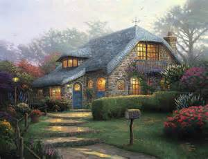 home interiors kinkade prints lilac cottage limited edition the kinkade