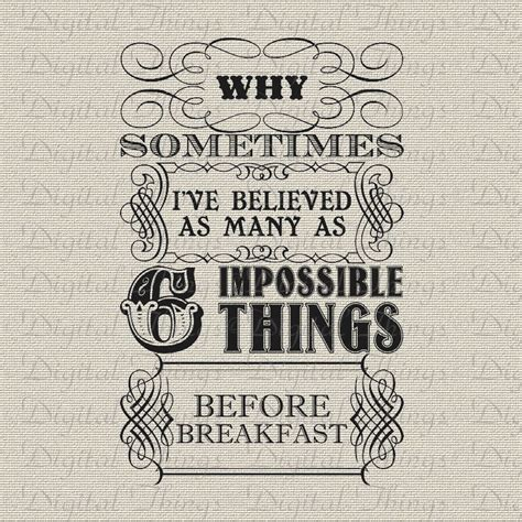 Poster Pajangan Wall Decor Shabby Nonsense in quote six impossible things