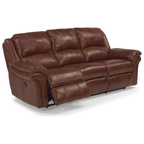 Flexsteel Latitudes Reclining Sofa Flexsteel Latitudes Dandridge Casual Power Reclining