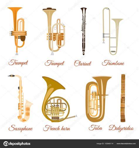 imagenes instrumentos musicales de viento conjunto de vectores de instrumentos musicales de viento