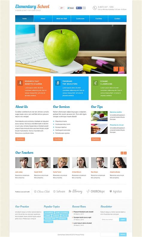 javascript templates for website primary school flash cms template 47628