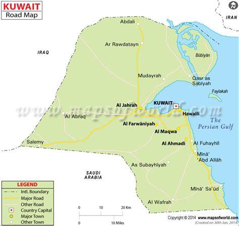 kuwait on a world map kuwait