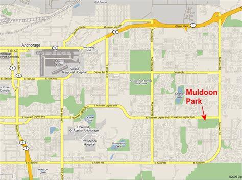 anchorage map muldoon park ski trails