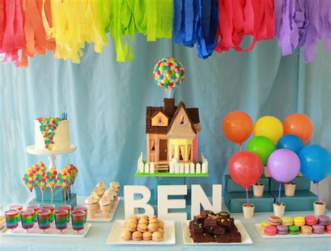 themes in the film up gender neutral boy and girl parties kids parties