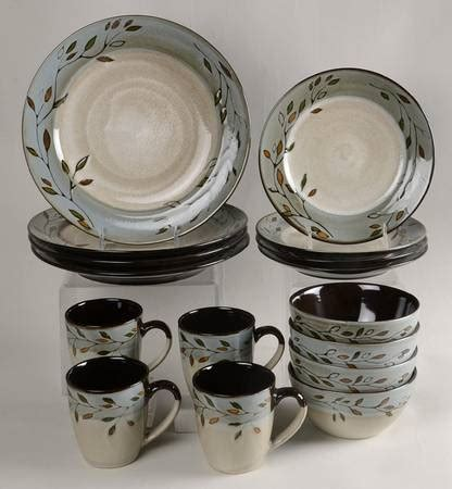leaf pattern dinnerware set pfaltzgraff pastoral leaves at replacements ltd