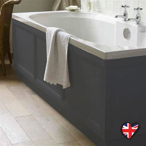 Towel Designs For The Bathroom insolito carolla 1700 bath panel charcoal grey buy online