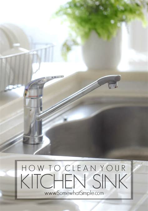 How To Clean A Kitchen Sink | how to clean your kitchen sink the easy way