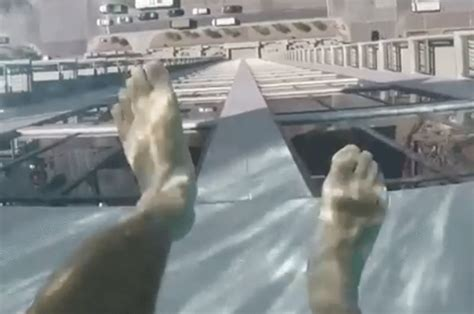 glass bottom pool glass bottom pool in houston will leave your stomach in knots