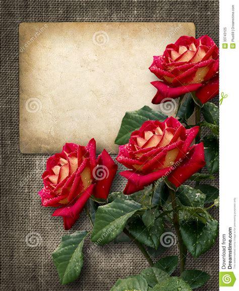 imagenes vintage rojas tarjeta para la invitaci 243 n o la enhorabuena con las rosas