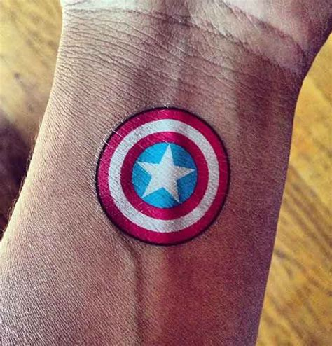 captain america shield tattoo designs 105 captain america designs and ideas for marvel