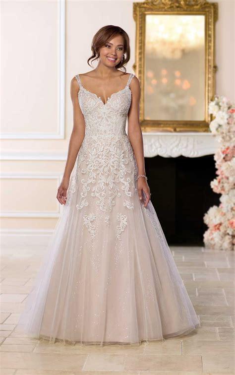 beading for wedding dresses open back wedding dress with beading stella york wedding