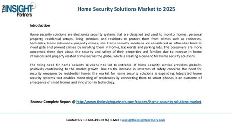 global home security solutions industry overview