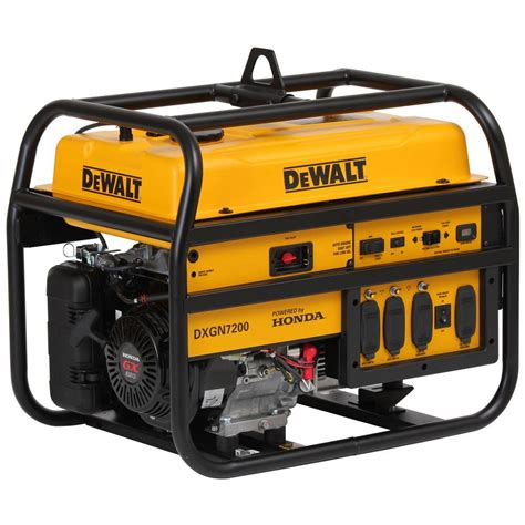 dewalt 7 200 watt gasoline powered electric manual start