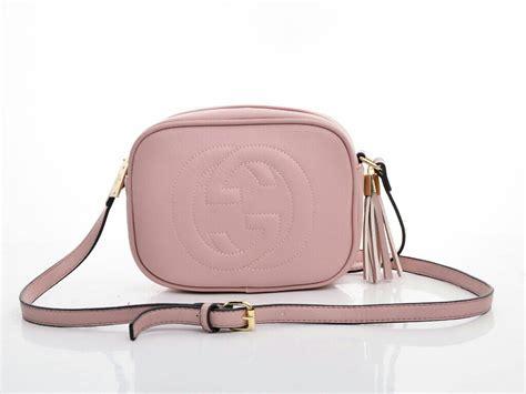 legendabutik tas gucci soho disco leather pink tua semi
