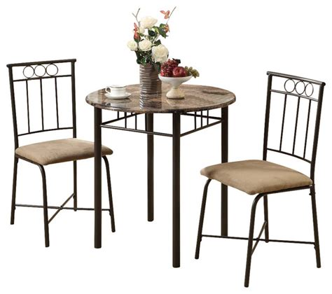 bistro table set kitchen monarch specialties 3045 3 bistro set in bronze and