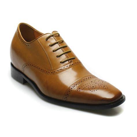 zapatos cuero hombre zapato para hombre cuero cafe formal vestir elegante 7cm mas
