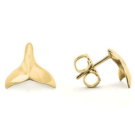 whale stud earrings world treasure designs