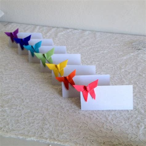 Origami Place Cards - origami place cards wedding cards paper by