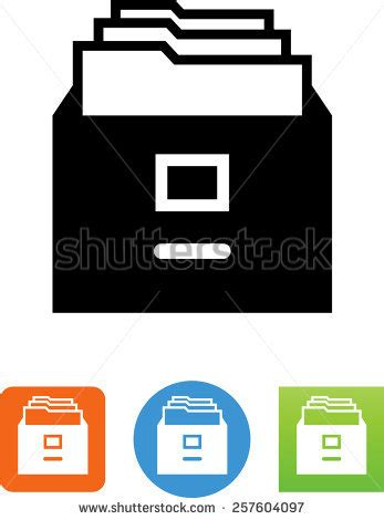 file cabinet symbol for download vector icons for video