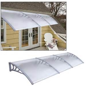 diy outdoor awning 1mx3m diy outdoor polycarbonate front door window awning patio cover canopy ebay