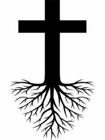 cross tree roots tattoo design coffee shop ideas
