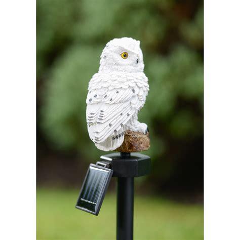 Owl Solar Lights B M Gt Snowy Owl Solar Stake Light 2868862