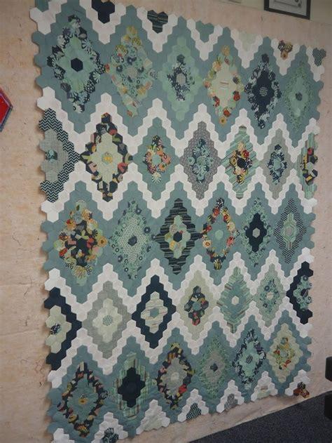 Hexagon Patchwork Quilt Designs - 509 best epp block and quilt ideas images on