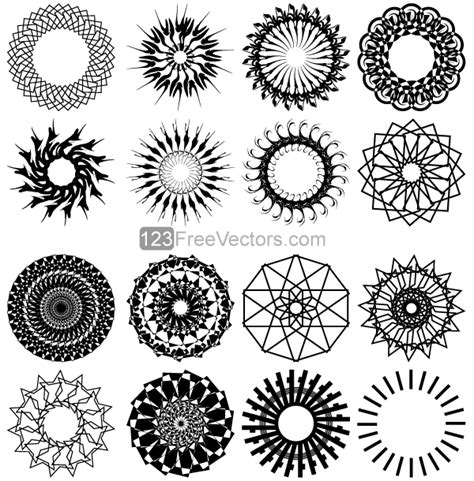 art design in circle geometric circle design vector art vector 365psd com